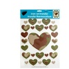 Kole Imports Iron-on Camouflage Hearts Transfers - Pack Of 24