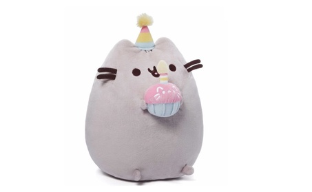 Gund 10.5 Plush Pusheen Happy Birthday with Pink CupCake & Party Hat 220cdc0e-39d7-4c35-a925-d27b4e89bc59