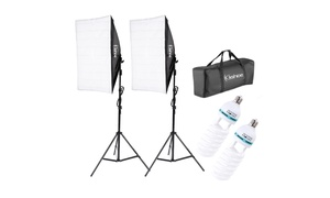 Large Softbox with Stand Bulb Photography Photo Studio Light Kit