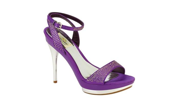 Women's Bolaro Embellished Purple Chrome Dress Shoe