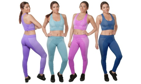 2-Piece: Women's Athletic Workout Yoga Legging & Sports Bra Set 09a48a98-2db8-4087-8f95-810a023e94b6