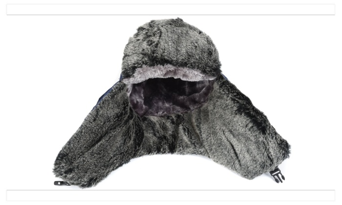 ... Weanas Unisex Winter Comfortable Warm Ear Flap Skiing Trooper Blue Hat 65f334f9ff0c
