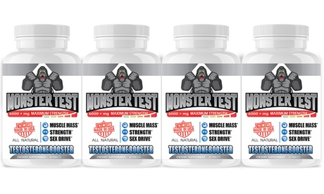 Angry Supplements Monster Test Testosterone Booster, Muscle Mass, Sex Drive