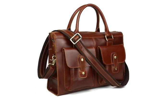 Men's Vintage Leather Briefcase Bag
