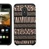 Insten Zebra Layer Silicone Case For Alcatel Conquestand Brown Black