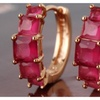 Gorgeous Ruby 18k Gold Plated Earrings