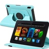 Insten For Amazon Kindle Fire HDX 7 360 Swivel Leather Case Light Blue