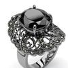 8.21 TCW CZ Marcasite Rhodium-Plated Ring
