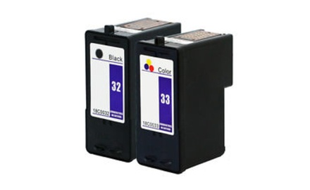 Compatible Lexmark 32&33 (Black/Tri-Color) Combo Set
