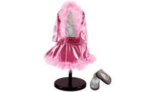Groupon Goods: Pink Sparkle Ice Skating Outfit Complete Set