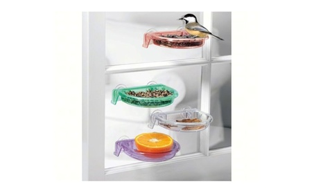 Tweet Spot Dish Birdfeeder by Droll Yankee Window Bird (Goods For The Home Patio & Garden Bird Feeders & Food) photo