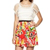 WILLOW  CLAY Printed Floral Skirt