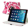 Insten For iPad Air 360 Swivel Stand Leather Case Pink Giraffe