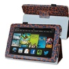 Insten Brown Leopard Stand Leather Case For Kindle Fire HD 7 2013
