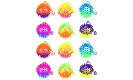 12 Set VT Flashing LED Light Up Dual Color Squishy Spiky Toy Yo-Yo (Colors Vary) d5fd9f4e-5f87-4810-b1a2-bbe1d2a558c3