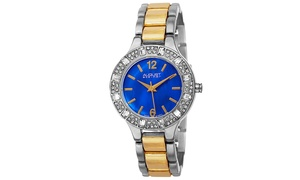 August Steiner Ladies Quartz Crystals Bracelet Watch