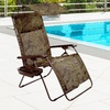 Bliss Hammocks Deluxe XL Gravity Free Recliner With Canopy & Tray -Fern Jacquard