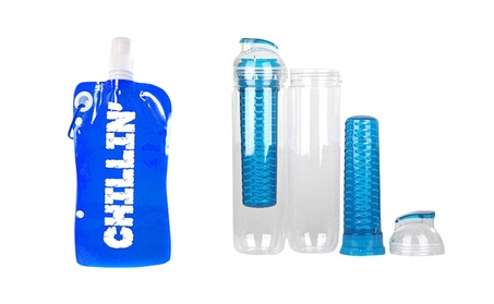 Water Bottle Infuser & 1 Portable Water Bottle w/ Snap Cap 8add6bbf-bc6f-4007-8803-04a5843ee842