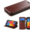 Insten Wallet Leather Stand Case with Card Holder Galaxy AvantBrown