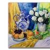 Yelena Lamm Still Life with Blue Teapot Canvas Print
