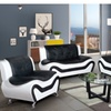 Modern Faux Leather 3 piece best living room set