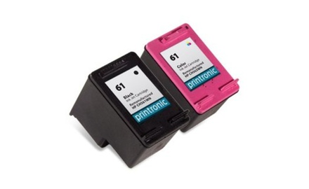 Compatible HP 61 (Black/Tri-Color) Ink Cartridges Combo Set Pack