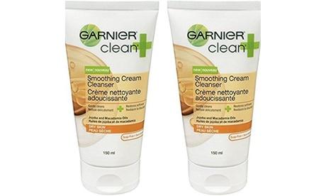 Garnier Clean & Smoothing Cream Cleanser For Dry Skin, 5 Fluid oz - 2
