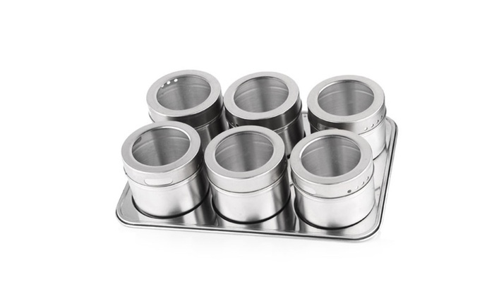 Buy It Now : 6 pc Magnetic Spice Rack
