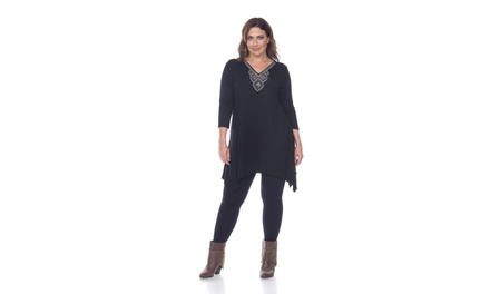 Black Plus Luna Top/Tunic