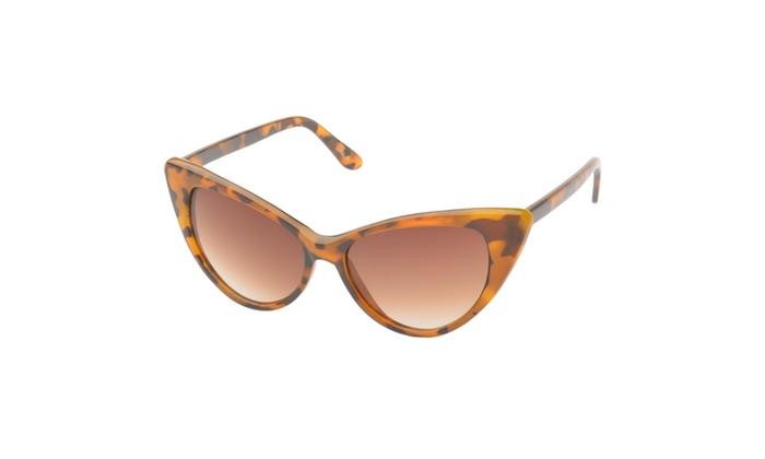 MLC Eyewear 'Colville' Cat eye Fashion Sunglasses in Leopard