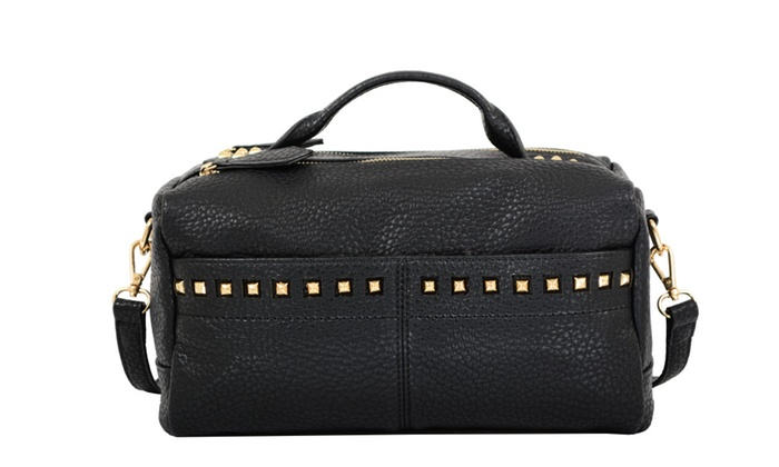 Mellow World Jovi Mini Crossbody Duffel Bag with Studs