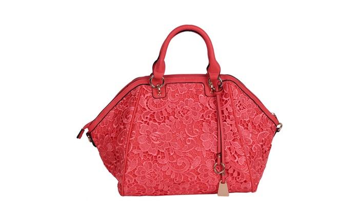 'Holli' Retro Retro Lace Satchel Bag