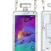 Insten 3D Crystal Cover Case Chain  Diamond For Galaxy Note 4 Clear