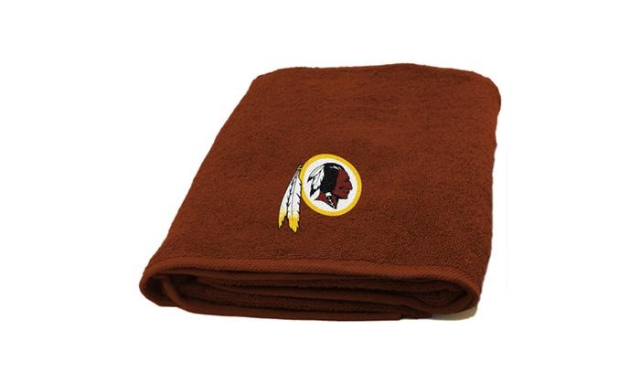 NFL 929 Redskins Applique Beach Towel