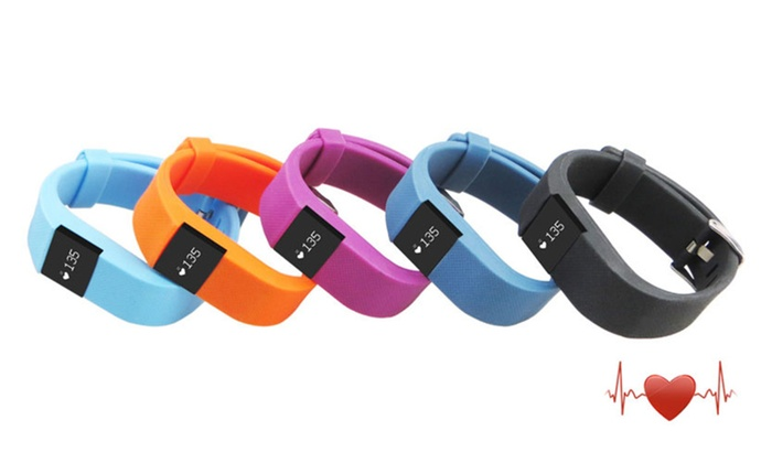 Smart Bluetooth HR Fitness Tracker with Heart Rate Monitor