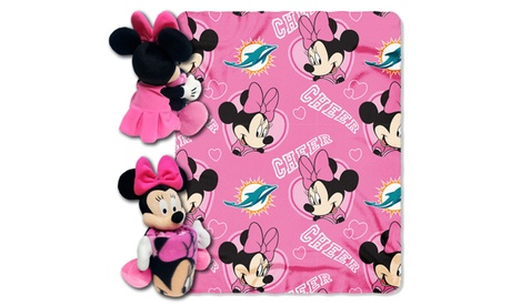 NFL 03801 Dolphins Minnie Hugger with Throw 33ff749b-7cc9-4e29-950b-930e0de84ae4