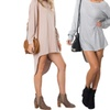 Women Casual Batwing Sleeve High-low Hem T-Shirt Tops Loose Blouse