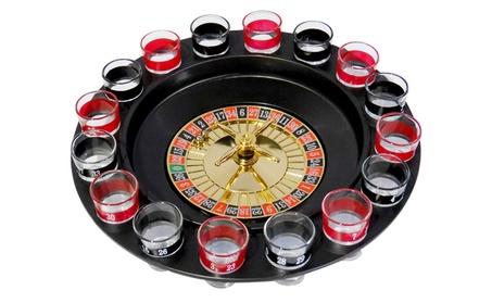 Evelots Roulette Drinking Game,2 Balls & 16 Shot Glasses, Casino Style db4b5db9-72f7-440e-bf7a-274c3e50c41c
