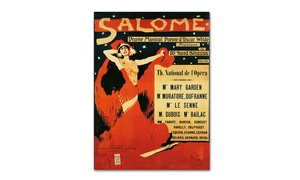 Groupon Goods: Richard Strauss Poster of Opera Salome 1910 Canvas Print