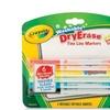 Crayola BIN985906 Crayola 6 Color Washable Dry Erase Line Markers