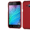 Insten Hard Rubberized Case For Samsung Galaxy J1 Red