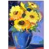 Sheila Golden 'Sunflowers II' Canvas Rolled Art