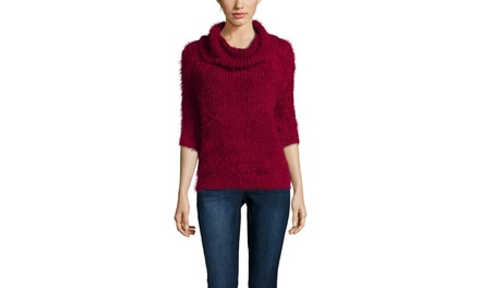 CLICHE Three-Quarter Turtleneck Sweater