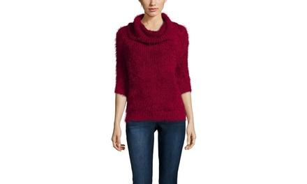 CLICHE Three-Quarter Turtleneck Sweater