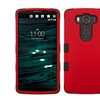Insten Tuff Hard Layer Coated Silicone Case For LG V10 Red Black