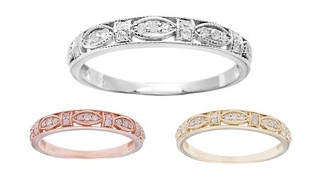 10k Gold 1/5ct Vintage Style Pave Diamond Ring (G-H, I1-I2)