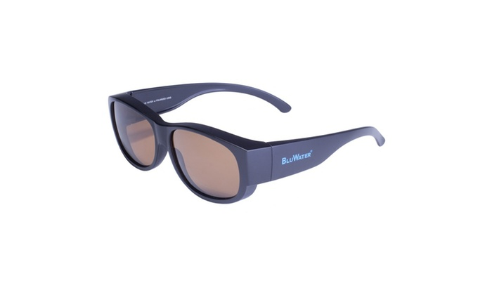 BluWater Matte Black Frame with Brown Polarized Lens