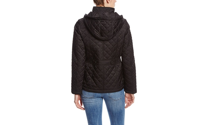 Laundry By Design Elastic Waist W Back Tab Quilted Jacket Groupon