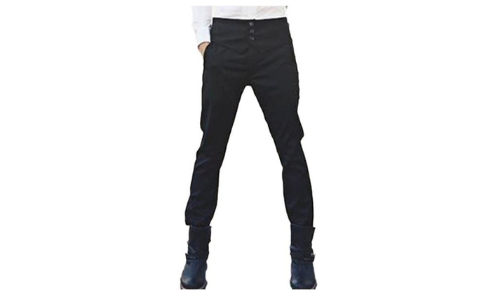 Men's Straight Stylish Casual Mid Rise Loose Fit Pants