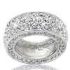 Camille CL Lucie Band Ring Full of Crystals in Silver Tone